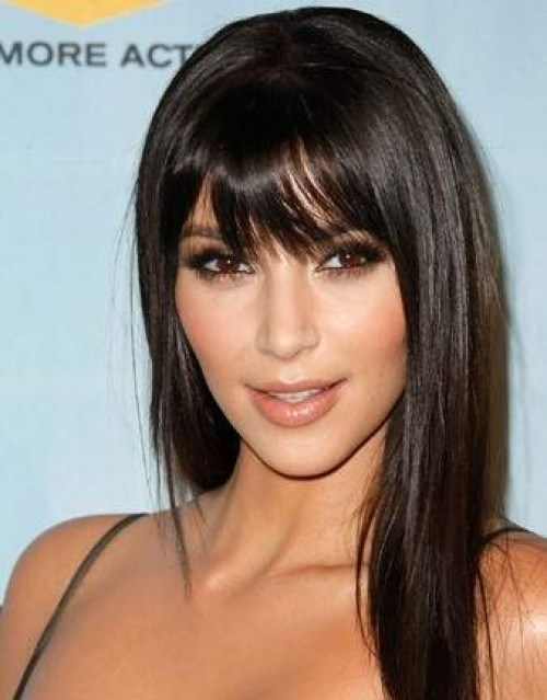 hairstyles for straight hair with bangs photo - 9