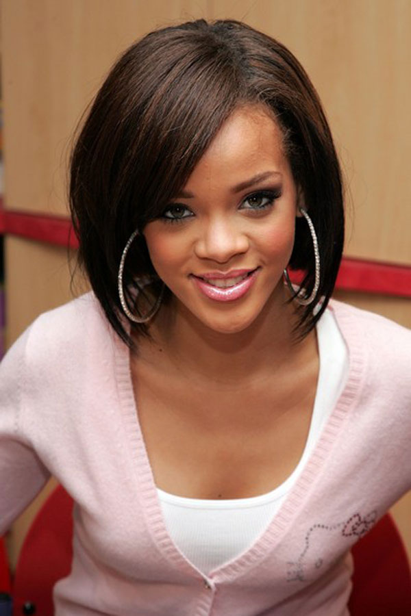 hairstyles with bangs for black women photo - 5