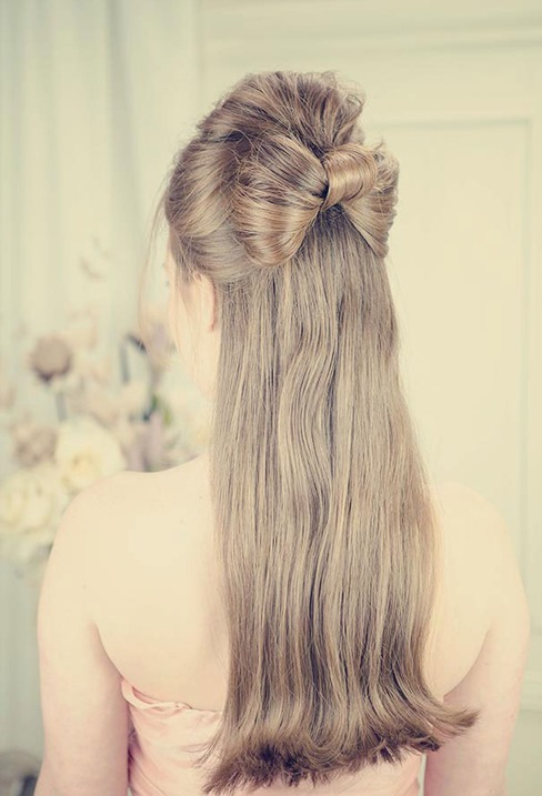 half up half down hairstyles photo - 8
