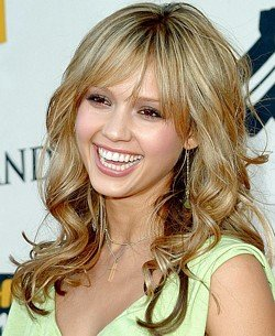 jessica alba hairstyles with bangs photo - 3