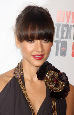 jessica alba hairstyles with bangs photo - 6