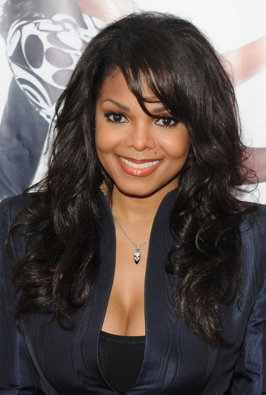 long hairstyles with bangs for black women photo - 1