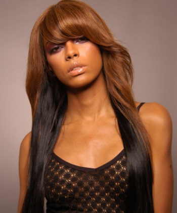 long hairstyles with bangs for black women photo - 7