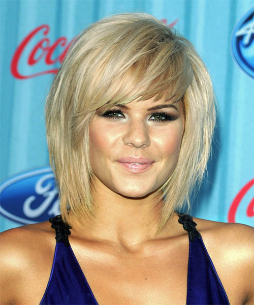 medium choppy hairstyles with bangs photo - 5