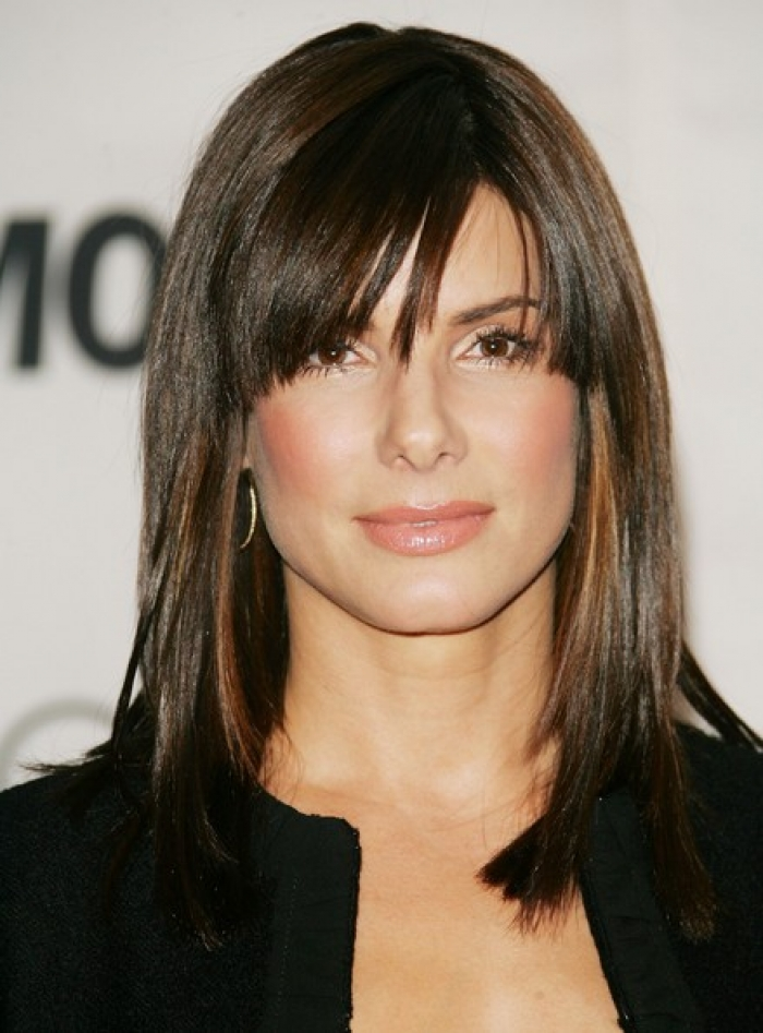 medium choppy hairstyles with bangs photo - 8