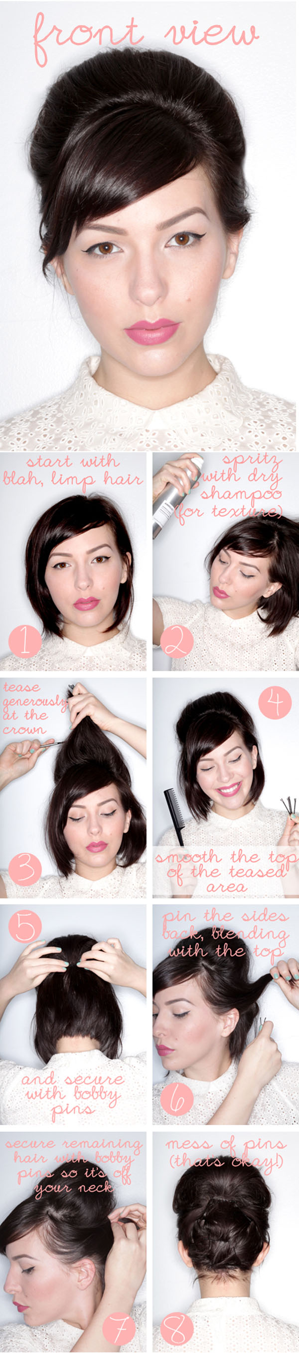 pin up hairstyles for short natural hair photo - 2