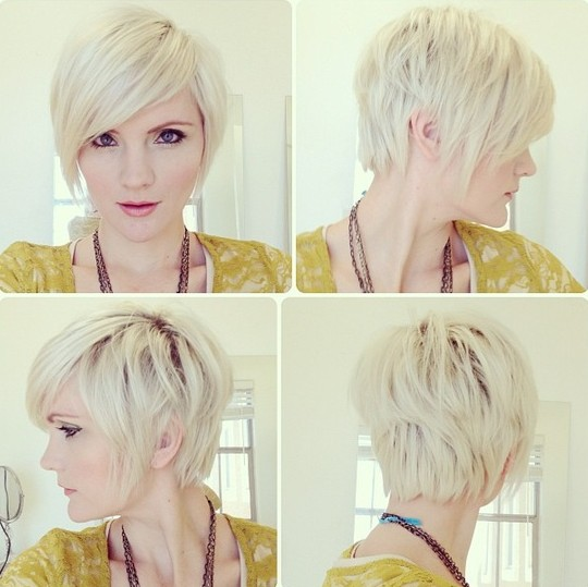 pixie hairstyles with long bangs photo - 4