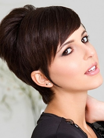 pixie hairstyles with long bangs photo - 9