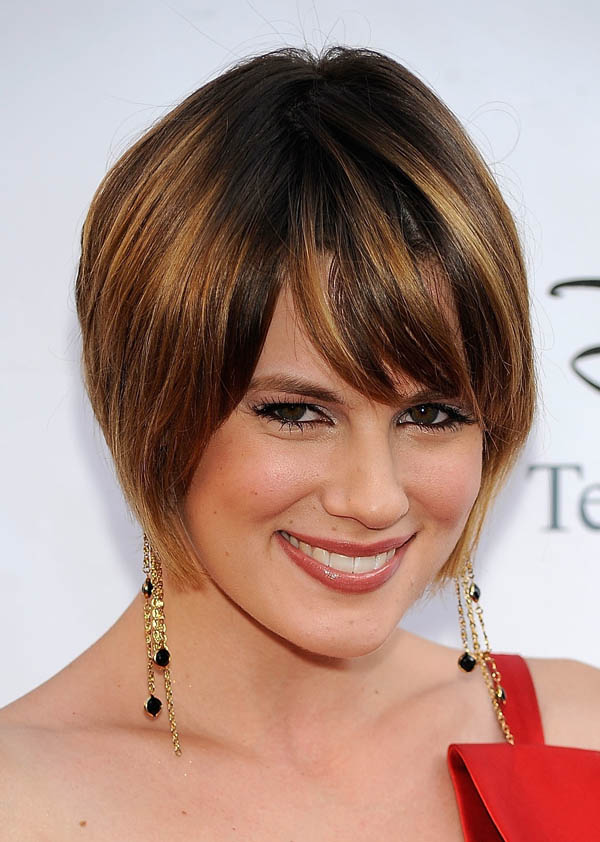 short hairstyles for thick hair photo - 20