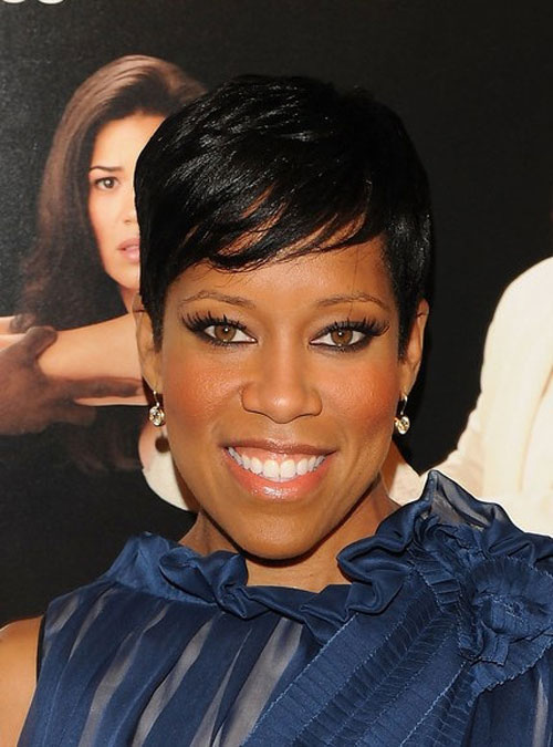 short hairstyles with bangs for black women photo - 8