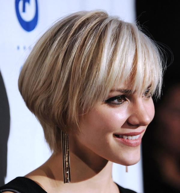 short hairstyles with bangs for round faces photo - 10