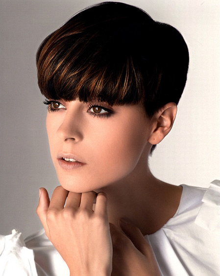 short hairstyles with long bangs photo - 10