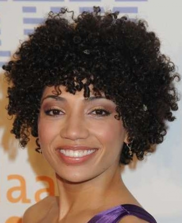 short natural curly hairstyles photo - 8