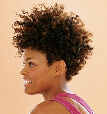 short natural hairstyles for round faces photo - 10