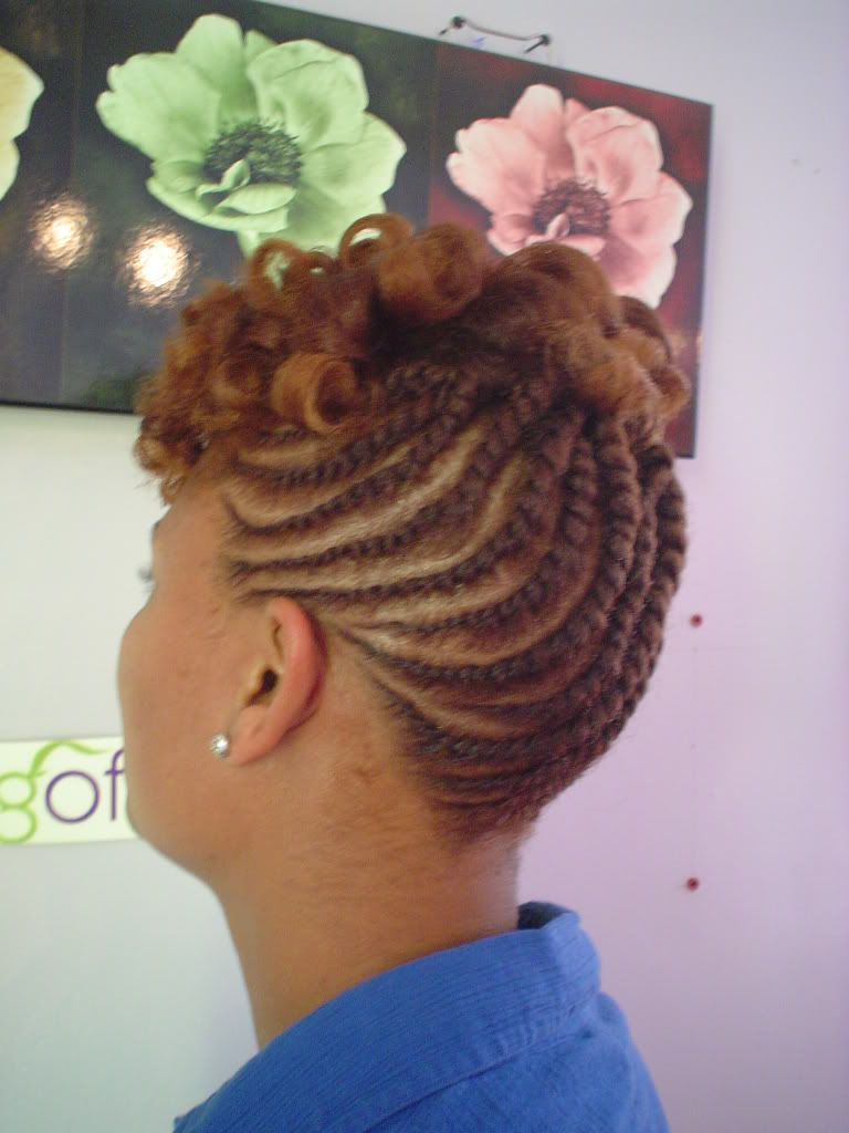short natural twist hairstyles photo - 9