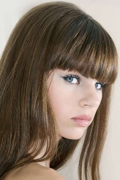 simple hairstyles with bangs photo - 10