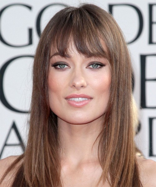 straight hairstyles with bangs photo - 6