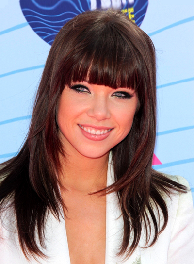 straight hairstyles with bangs photo - 9
