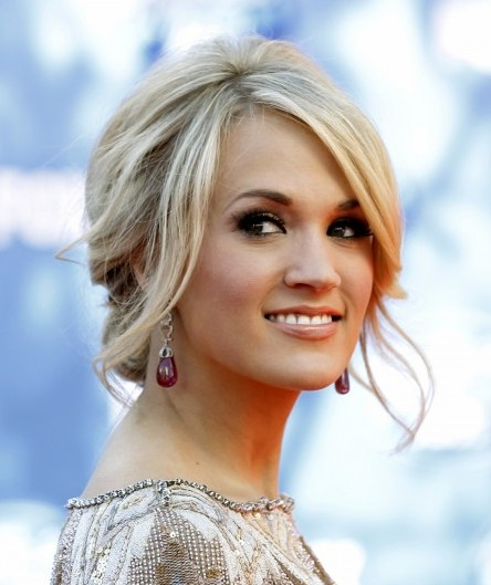 updo hairstyles with bangs photo - 2
