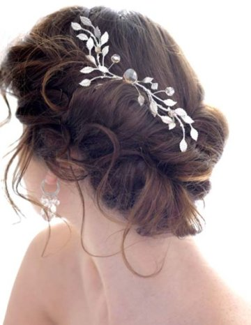 updo hairstyles with bangs photo - 4