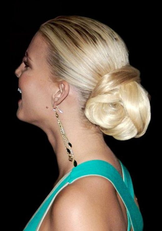 updo hairstyles with bangs photo - 5
