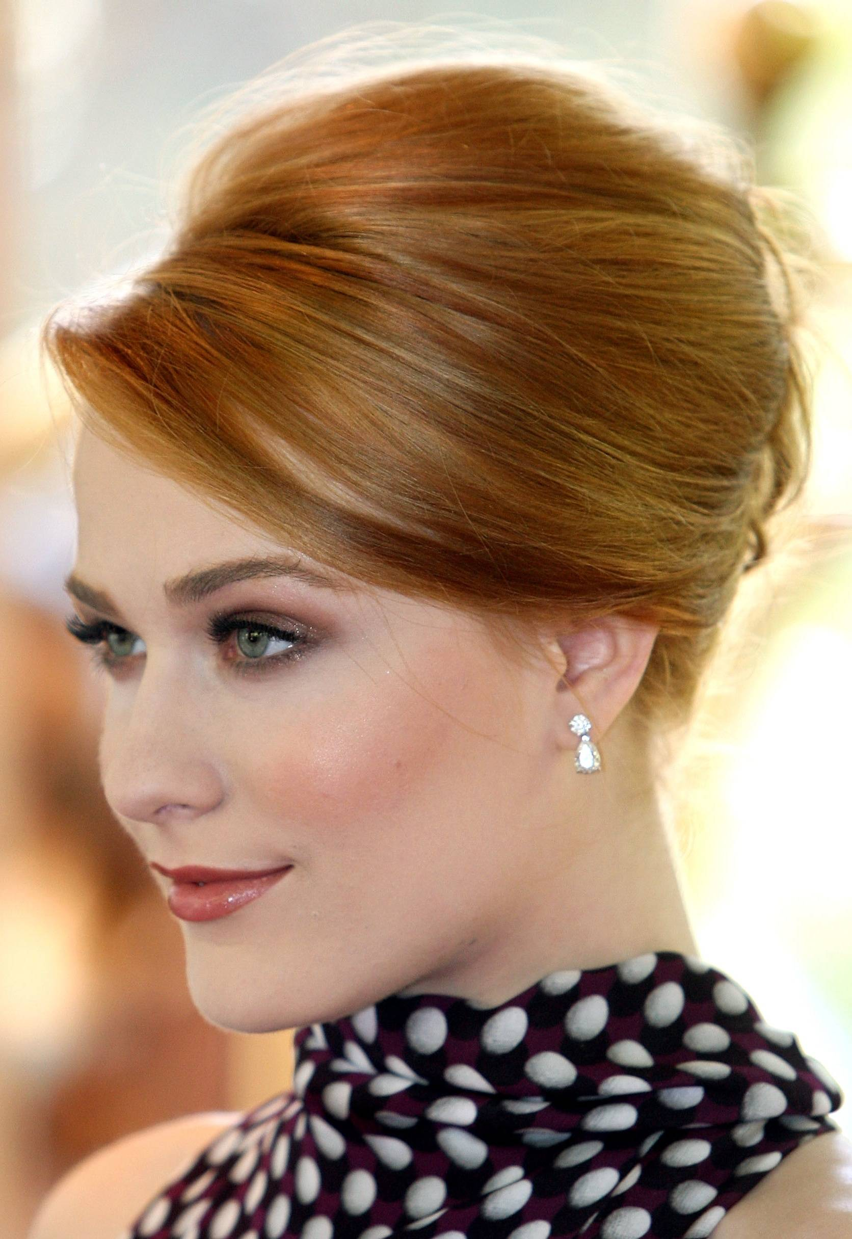updo hairstyles with bangs photo - 6
