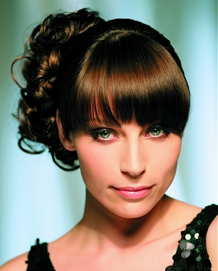 updo hairstyles with bangs photo - 8