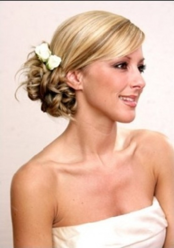 wedding hairstyles with bangs photo - 10