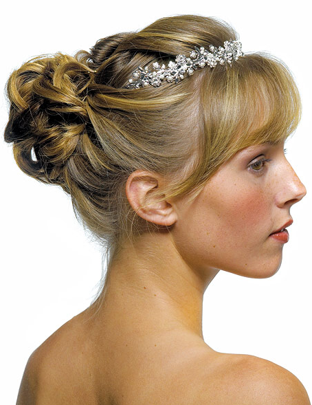wedding hairstyles with bangs photo - 4