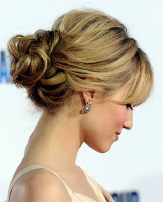 wedding hairstyles with bangs photo - 7